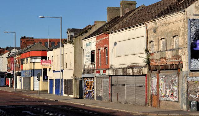 Vacant and derelict shops, east Belfast (1)