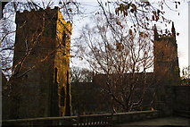 SD9828 : Heptonstall church towers from Weaver Square by Bill Boaden