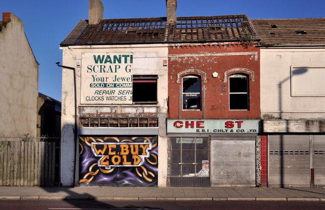 Vacant and derelict shops, east Belfast (2)