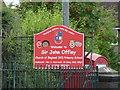 SJ7744 : Sir John Offley CofE Primary School, Madeley, Sign by Alexander P Kapp