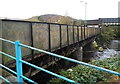 SS9795 : Ton Pentre railway station bridge over a river by Jaggery