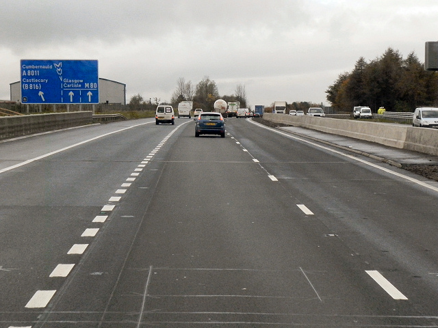 M80, Approaching Junction 6
