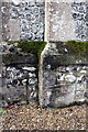 SU1530 : Weathered benchmark on buttress of St Andrews Church by Roger Templeman