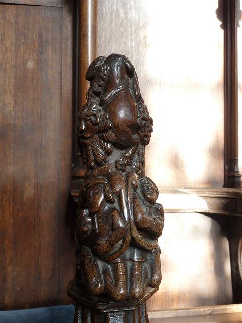 St  Botolph's - Choir Stall Carvings - 15