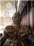 TF3244 : St  Botolph's - Choir Stall Carvings - 18 by Rob Farrow