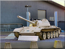SJ8097 : T-55 Tank Outside Imperial War Museum North by David Dixon