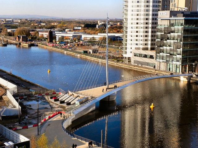 Manchester Ship Canal; MediaCity Footbridge