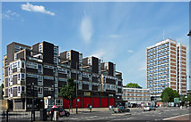 TQ3282 : Fire station and Shoreditch House, Old Street by Stephen Richards