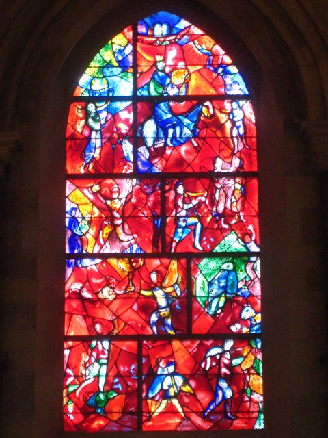 Stained glass window by Marc Chagall in Chichester cathedral