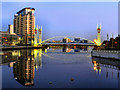 SJ8097 : Salford Quays; The Lowry Bridge by David Dixon