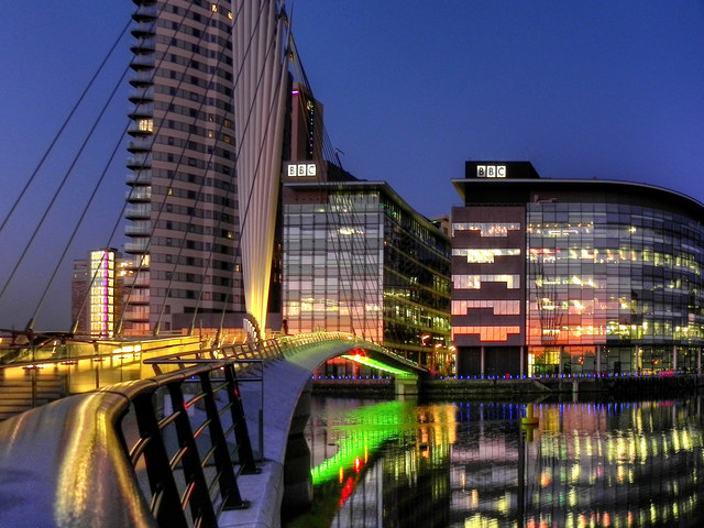 BBC Offices and MediaCity Footbridge