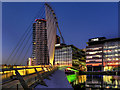 SJ8097 : Media City Swing Bridge by David Dixon