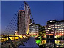 SJ8097 : Media City Swing Bridge by David Dixon