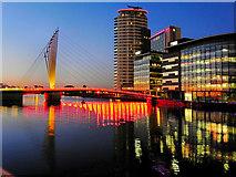 SJ8097 : Media City Bridge by David Dixon
