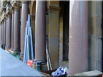 NS2776 : Greenock Town Hall colonnade by Thomas Nugent
