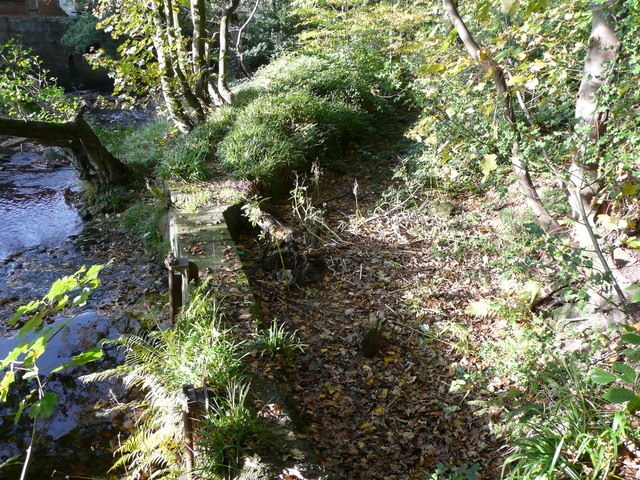 Penstocks at a weir on Cragg Brook, Mytholomroyd