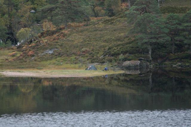 Wild camping by Bun Camgharaidh, Loch Arkaig by Peter Bond