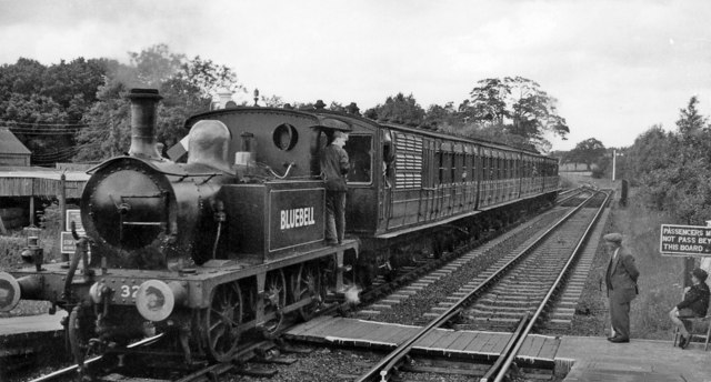 Bluebell Railway train at Sheffield Park in 1961