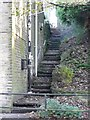 SE0125 : Steps at Thorn Bank, Mytholmroyd by Humphrey Bolton