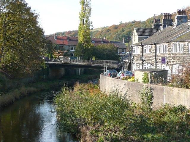 The River Calder and Caldene Avenue bridge, Mytholmroyd
