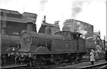 TQ2976 : Ex-SE&C 0-4-4T at Stewarts Lane Locomotive Depot by Ben Brooksbank