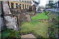 TQ3281 : Roman Wall, London by Peter Trimming