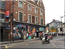 TQ3382 : Wall art, Old Street, Shoreditch by Peter Barr