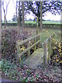 TM3686 : Footbridge of the footpath to the A144 Stone Street by Adrian Cable