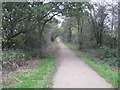 SJ6367 : The Whitegate Way runs East past Gale Green Farm by Dr Duncan Pepper