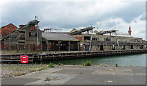 TA2710 : Disused dock buildings, Grimsby by Stephen Richards