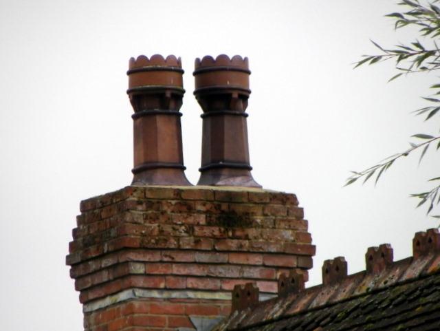 Chimney pots, Coombe Bissett