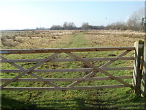 ST4286 : Gate to Magor Marsh Nature Reserve by Jaggery