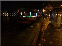 TQ3078 : Night time, South bank, near Vauxhall Bridge by Peter Barr