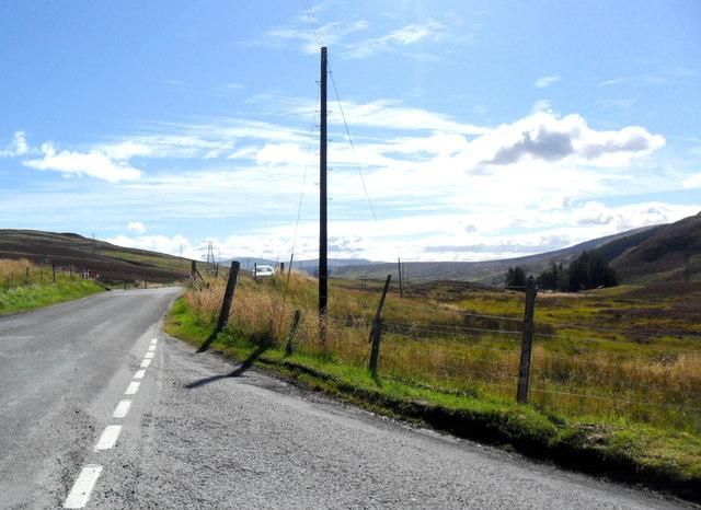 The B846 near Foss, Perthshire