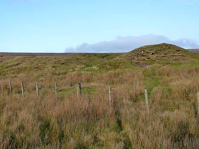 Old mineral workings on Black Hill