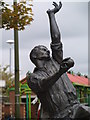 SK5056 : Statue of Harold Larwood by Martin Kirk