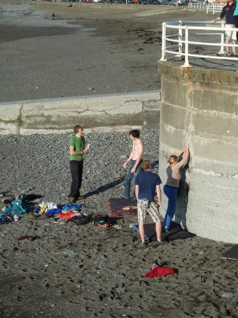 Climbing the sea wall (1)