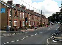 ST1587 : Row of houses, Nantgarw Road, Caerphilly by Jaggery