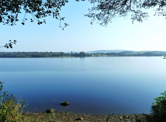 Looking across Loch Ken to Galloway Sailing Centre