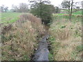 SJ6264 : The Poolstead brook looking downstream from the bridge by Dr Duncan Pepper