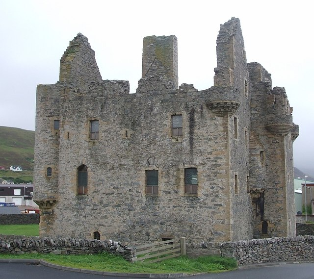 Scalloway Castle - from the North