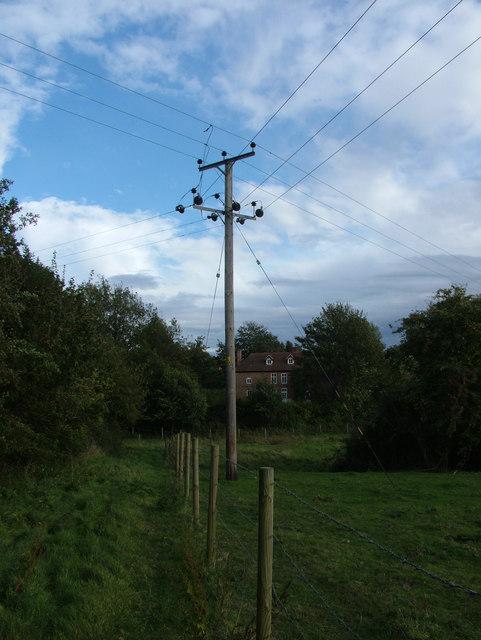 Power line crossroads