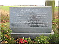 TL2364 : Graveley Airfield commemorative plaque by David Purchase