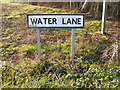 TM2169 : Water Lane sign by Adrian Cable