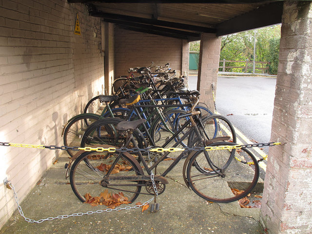 Bletchley Park: old bicycles