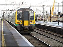SP8633 : Bletchley station: London Midland service by Stephen Craven