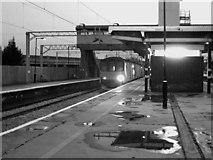 SP8633 : Bletchley station: Bedford shuttle by Stephen Craven