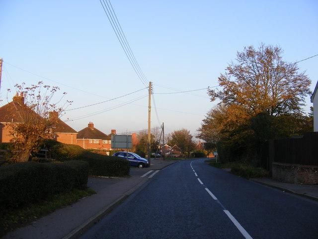 B1117 Laxfield Road, Stradbroke