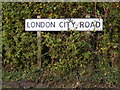 TM2472 : London City Road sign by Adrian Cable