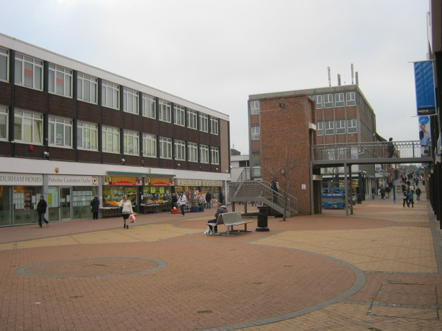 Pedestrian area in Castle Dene Shopping Centre at Peterlee